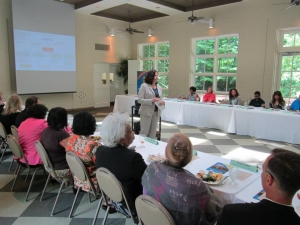 Patti Tosti, President of Tosti Consulting, Conducting Training on Elder Abuse Prevention